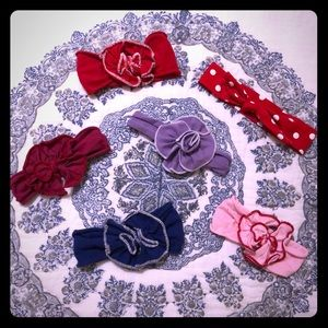 Boutique Baby Headband Bows 6-pc Set 0-12 Months